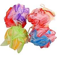 Frcolor 4pcs Malla Puf Baño Spong Suave Suave Baño Ducha Bola Exfoliante Body Scrubber Ball (Color aleatorio)