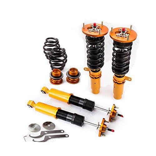 Gowe 24 façons Adj. Amortisseur de suspension combinés filetés pour BMW E36 316 318 320 323 325 328 M3 3 Series Struts Printemps Coupé et berline 98–05