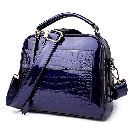 JunBo Handtasche, Weibliche Tasche Lackleder GläNzend Shell Tasche Handtasche Mode Schulter Messenger Bag Nettogewicht | ÜBer 0,89 Kg GrößE HöHe: 22 cm Breite: 26 cm Dicke: 13 cm -