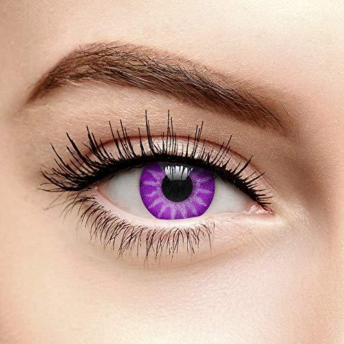 Coloured Contacts Farbige Kontaktlinsen Ohne Stärke Solar Violett (90 Tage)