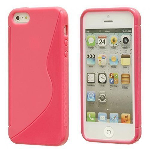 ECENCE Apple iPhone 5 5S Coque de protection housse case cover transparent 21010204 Rose I