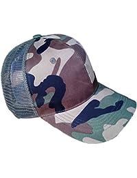 Accessoryo - Bonnet de conception camouflage unisexe avec maille texturée noire
