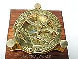 10,2cm Messing Sonnenuhr Kompass Voll funktionsfähig Kompass nevegation Nautical Maritime Vintage Antik Kompass