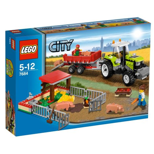 LEGO-City-7684-Pig-Farm-Tractor
