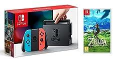 Pack Nintendo Switch avec paire de Joy-Con rouge et bleu + The Legend of Zelda : Breath of the Wild