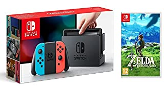 Console Nintendo Switch avec Joy-Con - Néon + The Legend of Zelda : Breath of the Wild (B01ND3XZUH) | Amazon price tracker / tracking, Amazon price history charts, Amazon price watches, Amazon price drop alerts