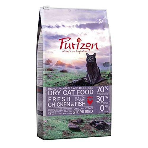 Purizon sterilisiert Erwachsenen-Trockenfutter für Katzen–Huhn & Fisch (6,5kg)