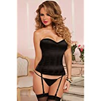 Seven 'til Midnight Women's Knock Out Corset, Large, Black