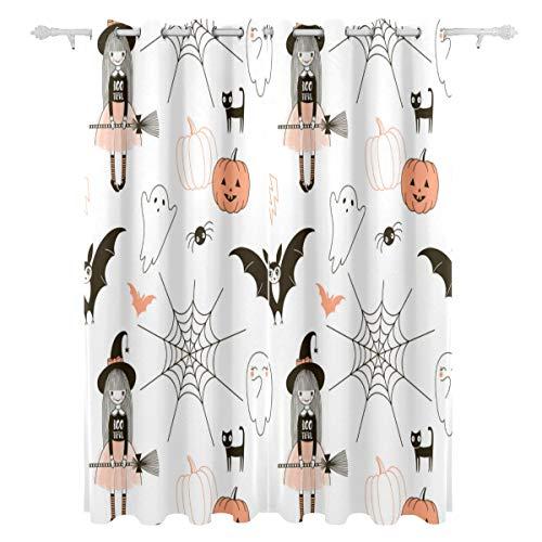 d Halloween-Feiertags-dekorativer hängender 2 Panel-Satz druckte Blackout-Vorhänge für Schlafzimmer-Wohnzimmer-Esszimmer-Fenster drapiert 54x84 Zoll-Vorhang ()