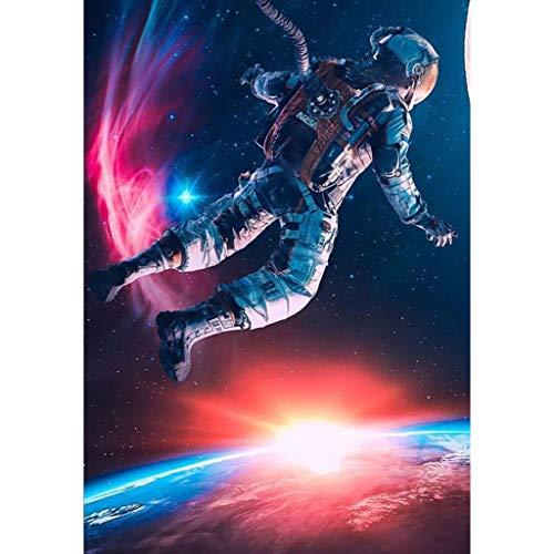 Diamant Malerei Full Kits 5D DIY, Weltraum Astronaut Dekoration Malerei Vollbohrer Kits Für Erwachsene Porträt Strass Stickerei Kreuzstich Kunst Malerei, 30 cm × 40 cm, Markthym