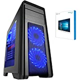 G6 Gaming PC SJ60BB-3TW - Intel i7 8700K Coffee Lake Hex Core 3.7GHZ Processor, Intel Processor, 8GB GeForce GTX 1080 Graphics Card, 960GB SSD Drive, 1000GB Hard Drive, 1TB HDD, 32GB 2133MHZ DDR4 RAM, Memory, Z370, Asus Motherboard, Windows 10 Pre-Installed / Multimedia / Home / Family / VR Ready Gaming PC / Desktop PC / Computer / Tower