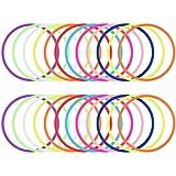 24 Stücke Neon Gummi Armbänder Silikon Armbänder 80er Jahre Kostüm Zubehör