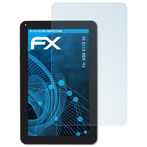 atFolix Schutzfolie kompatibel mit XIDO X110 3G Folie, ultraklare FX Bildschirmschutzfolie (3X)