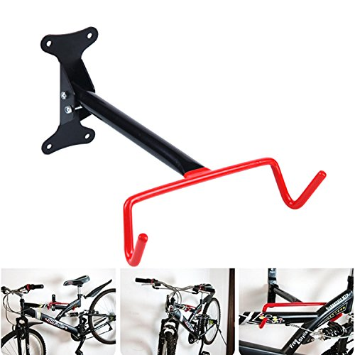 Dreamworldeu Upgrade Cycling Bike Storage Garage Gehäuse Rack Hanger Fahrrad Stahl Haken Halter Fahrrad Wandhalterung (Fahrradträger Garage)