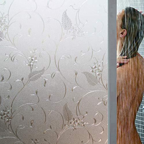 iSpchen Privacy Window Film Glasmalerei 3D Fensteraufkleber Haften Kein Kleber Statische Fensteraufkleber für Frosted Anti UV Home Office Store Dekoration #5 (Glasmalerei-film Für Windows)