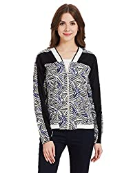 United Colors of Benetton Womens Cotton Jacket (16A2CP3E9701I90142_Black and White)
