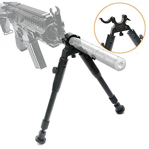 JASHKE Gewehr Zweibein 6-9 Zoll taktisch Schnell abnehmbar mit eingebauter Klemm-Höhenverstellung für Luftgewehre -