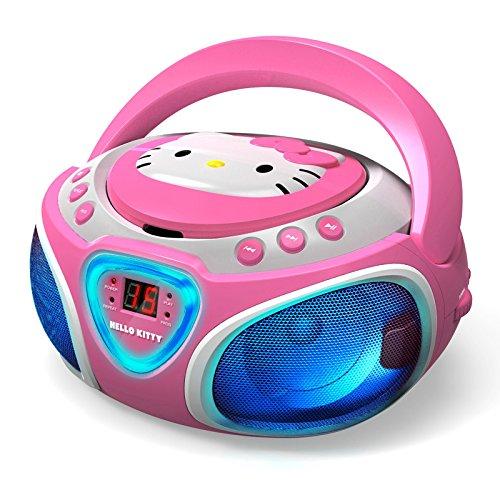 Hello Kitty CD-Player mit AM/FM-Radio und LED-Lichtshow Rosa (Hello Radio Kitty Player Cd)