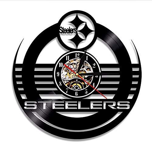 ttymei Green Bay-Verpacker Pittsburgh Steelers Seattle Seahawks Dallas Cowboys Baltimore Ravens Fußballmannschaft Vinylaufzeichnungswanduhr