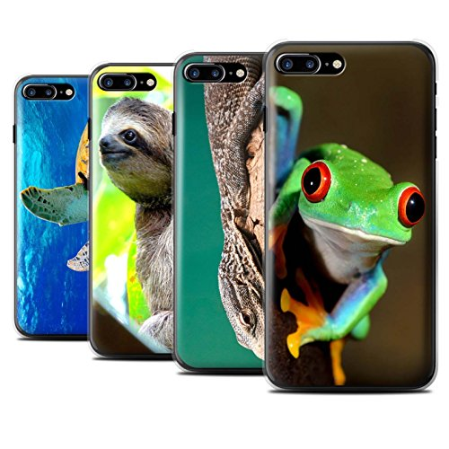 Stuff4 Hülle / Case für Apple iPhone 7 Plus / Koala Muster / Wilde Tiere Kollektion Multipack Exotisch