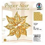 Ursus 34515500 - Paper Star Ornament 2, 4 Sterne, ca. 40 x 40 cm, Gold