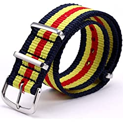 20mm Multicolor Army Militray Nylon Sport Watch Band Straps For Men Women WB2021