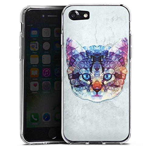 Apple iPhone X Silikon Hülle Case Schutzhülle Rainbow Cat Katze Kitten Silikon Case transparent