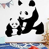 Panda Famille Wall Sticker Wall Decal Sticker Home Decor BRICOLAGE Amovible Art Vinyle Mural pour Chambre Enfants Chambre Mur Art Decal 58x54 cm