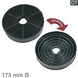 Bauknecht 481281728938 ORIGINAL Kohlefilter Aktivkohlefilter Filter Geruchsfilter Dunstabzugshaube Time-Strip rund Ø 173mm auch Wpro CHF185 D185
