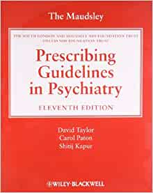 The Maudsley Prescribing Guidelines In Psychiatry Amazon border=