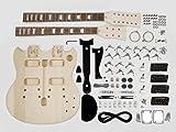 Double cou SG style Kit Assemblée Guitare - Tilleul Corps / 22 frettes / manche vissé (KIT-DN-10)