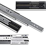 4 PAAR (8 Stück) Vollauszüge 450 mm 45 Kg Tragkraft mit Soft Close Schubladenschienen von JUNKER
