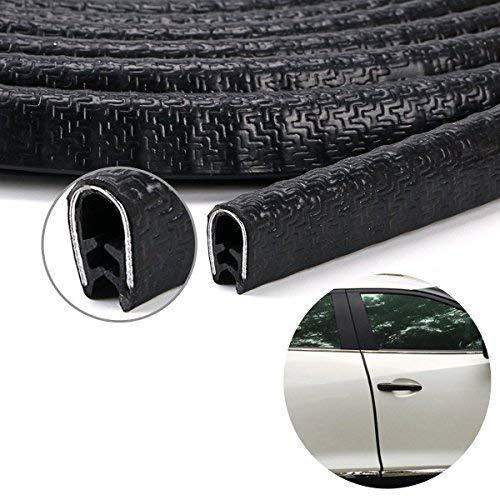 D Type Car Door Edge Trim Seal Strip Interior /& Exterior PVC Rubber Door Bonnet Boot 4m x 12mm x 14mm Warehouseshop WSS