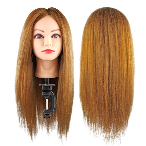 Antart: cabeza de maniquí de peluquería, profesional, cabellos 100% naturales, para prácticas de peluquería. Maniquí # 2