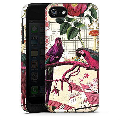 Apple iPhone X Silikon Hülle Case Schutzhülle Papagei Muster Collage Tough Case matt