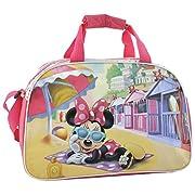 """Borsone palestra della famosissima """" Minnie """" della famiglia Disney. Composto da 1 unico scompartimento grande dove riporre abbigliamento e altri oggetti per il vestiario con una cerniera nella parte superiore per la chiusura. Sulla parte fro..."""