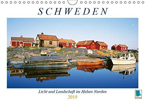 Schweden: Licht und Landschaft im Hohen Norden (Wandkalender 2019 DIN A4 quer): Schweden: Weites Land im Norden Europas (Geburtstagskalender, 14 Seiten ) (CALVENDO Orte) -
