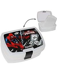 """Lunchbox / Brotdose - """" Spider-Man """" - mit extra herausnehmbaren Einsatz - Brotbüchse - Küche Essen für Jungen - Trennwand / Spinne Netz - Amazing - Spiderman - Kinder Vesperdose - Brotzeitdose"""