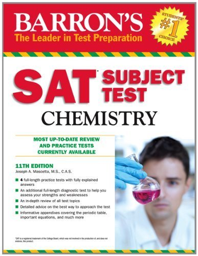 Barron's SAT Subject Test Chemistry, 11th Edition by Mascetta M.S., Joseph A. (2012) Paperback