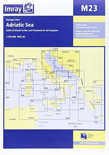 Imray Chart M23: Adriatic Sea Passage Chart; Golfo Di Trieste to Bar and Promontorio Del Gargano por Imray