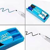 Whiteboard Zubehör Set : 5 Marker / Boardmarker Stifte bunt (4 Farben) + 1 Schwamm Löscher magnetisch für Schreibtafel Magnettafel   Grundausstattung