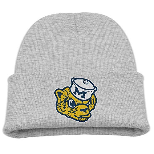 CHKWYN Skull Beanie Caps University of Michigan Vault Wolverine Trendy Soft Boys/Girls Oversized Wool Cap