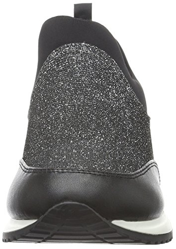 La Strada 960503, Baskets Basses Femme Noir - Schwarz (1942 - Black Silver)