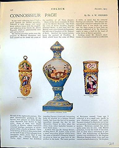 Print Battersea Enamel Etui Vase Lady Lighting Cigarette E. Lucchesi