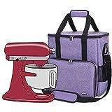 Luxja Aufbewahrungstasche für KitchenAid Küchenmaschine und Zubehör(passend für 4,3 Liter und alle 4,8 Liter KitchenAid Küchenmaschine), Lila