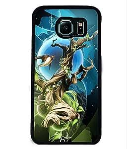 PRINTVISA The Trees Premium Metallic Insert Back Case Cover for Samsung Galaxy S6 Edge - D5794