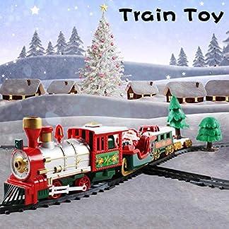 Biggystar Tren eléctrico ferrocarril Navidad Infantil tráfico Educativo construcción Juguete