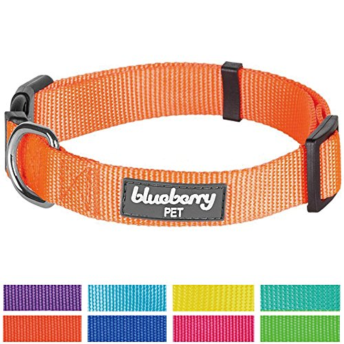 Blueberry-Pet-Dog-Collar-Classic-Solid-Basic-Polyester-Nylon-Dog-Collar-Made-For-Last-Matching-Lead-Harness-Available-Separately