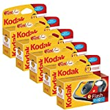 Kodak Fun Flash Lot de 5 appareils photo jetables 39 poses