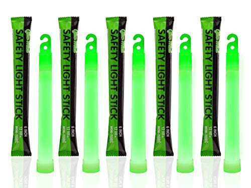 Glow Mind 15,2 cm Industrie-Grade Knicklichter, ultra-hell, langlebige Notfall-Lichtstäbe mit +12 Stunden Lebensdauer, leicht zu befestigen und ungiftig, grün, 50 Stück